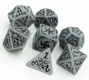 Gray & Black Tribal Dice Set